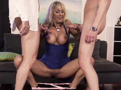 Busty Milf Threesome And Cumshot