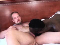 White Bear Barebacking Black Jock