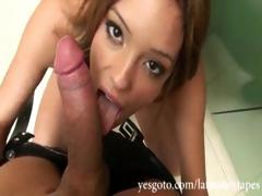 Petite Latin Chick Melanie Rios Playing With Sushi And