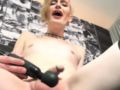 Amateur Tgirl Toying Her Dick And Balls