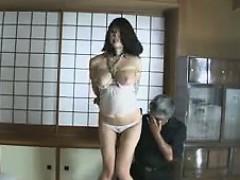 Busty Japanese Chick BDSM Bondage and Toying