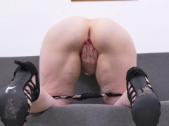 blonde-mature-rubs-her-pussy-on-the-couch