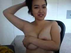 Amateur Asian Flashing Her Boobs