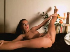 Adorable Brunette Solo Play