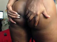 Fat Norwegian Ebony On Webcam