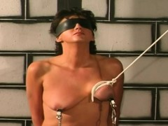 Blindfolded Babe Tit Torture And Caned