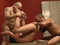 Locker Room Threesome
