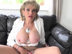 Adulterous British Milf Lady Sonia Pops Out Her Large Boobs