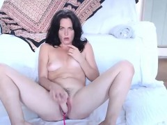 Hot Black Haired Milf Squirting On Live