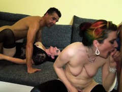 Two horny couples decide to spice up their sex lives and go