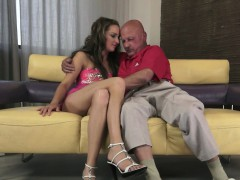 Pussyfucked Euro Teen Rimmed By Grandpa