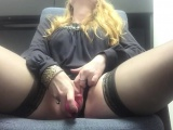 european blonde girl playing with toys