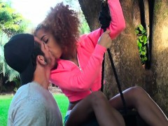 ebony-banging-on-a-swinging-tyre