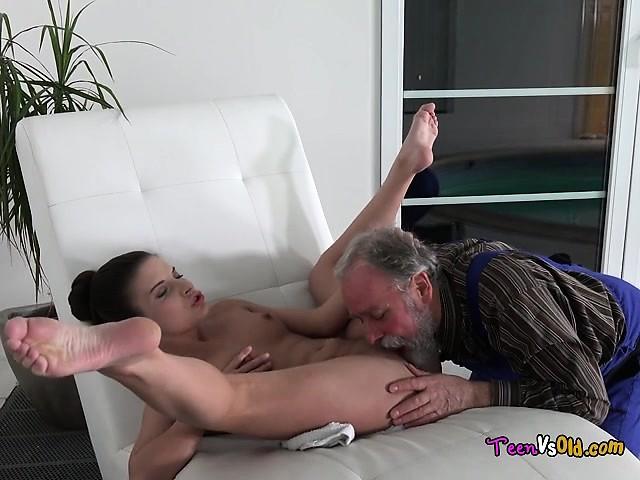 Teen Gets Fucked Old Man