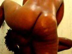 Two Black Lesbians With Fat Ass Go Naughty Licking Each
