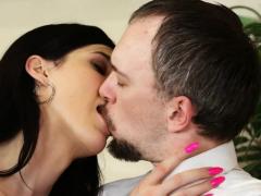 Horny Trans Stefani Gives Hot Blowjob