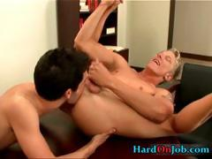 Two Horny Colleagues Fucking And Sucking Part2