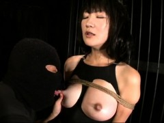 milking a sexy asian chick in hardcore bdsm
