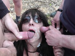 sexy wife cum drenched and creampied by hundreds of guys