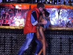 Retro Ebony Chick In Shiny Boots Gets Fucked In A Bar