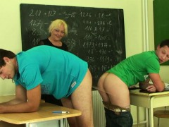 threesome-with-old-teacher-in-the-classroom