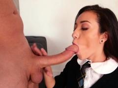Petite Schoolgirl Fucking Huge Dick