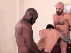 Latin Gay Threesome With Cumshot