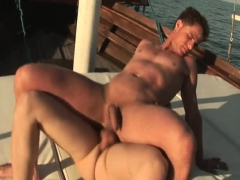 Gay Latino couple Do awesome Bareback sex in their Yacht