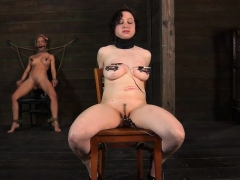 Tied Up Serf Receives Taut Mask With Hard Toy In Her Cunt