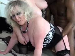 Granny Claire Knight Interracial 3some