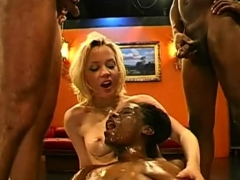 bitch petra and her ebony friend in sperm and piss gangbang Bukkake