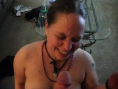 Dirty Talking Trailer Trash Chick Takes A Facial.