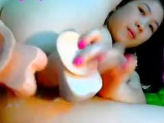 Webcam Fixates Horny Asian Solo