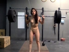 Fitness Teen Masturbates And Works Out