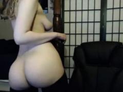 Webcam self spanking