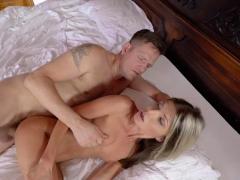 Blonde Gina Gerson deepthroating dudes big fat cock