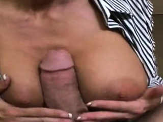 Delicious boss gives a sizzling sexy tit fuck and fellatio