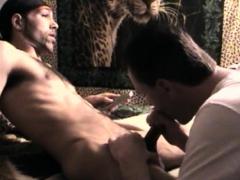 Eating Cum Off Straight Black Cock