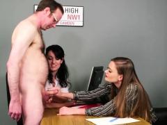 Voyeur Babes Stroking Guys Cock