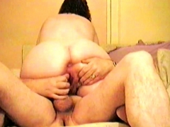 Fat Assed Wife Gets Her Cunt Plugged