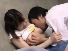 Japanese Girl Hairy Twat Fingering