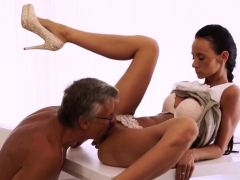 Old Men Double Penetration And Than She Gulped His