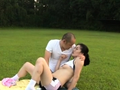 Captivating Hotty Loves Getting Happy In The Outdoors