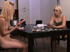 Strip-poker Leads To Mom-teen Dildo Fucking