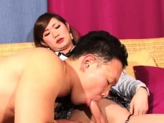 Schoolgirl ladyboy switches in vers couple