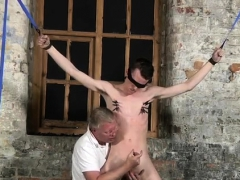 Traditional Bondage Movie Gay With His Mushy Nut Tugged