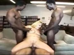 Interracial Gangbang Blonde Babe