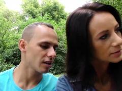 HUNT4K. Pleased cuckold watches girlfriend's outdoor sex…