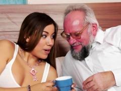Foreplay Loving Teen Sucking Oldmans Cock
