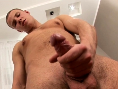Hung Ken Strokes His Cock
